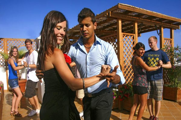 "Spain-Andalucia-Malaga- class of ""Salsa"" dance at Nerja."