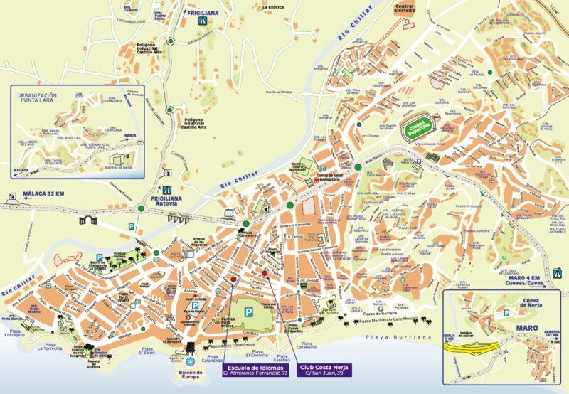 mapa Nerja plano